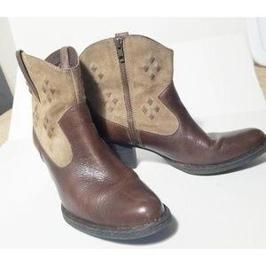 Born Capri Western Boots Leather/ Suede Size 11